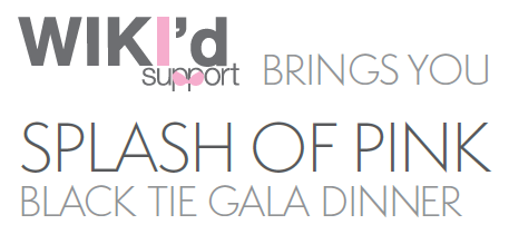 Splash of Pink Black Tie Gala Dinner